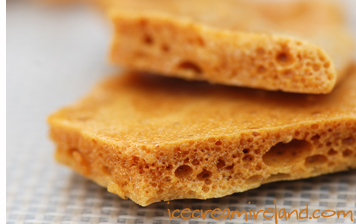 Honey comb toffee candy