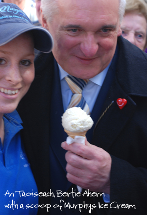 Bertie Ahern with Murphys Ice Cream