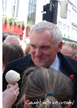 Bertie Ahern ice cream