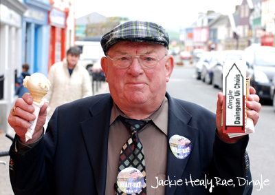 Jackie Healy Rae with Ice Cream