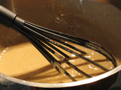 Mixing custard