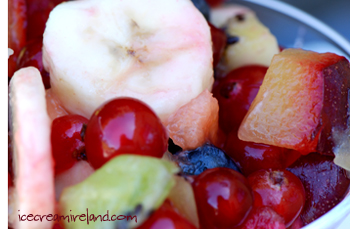 Fruit salad closeup