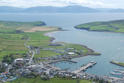 Aerial shot of Dingle