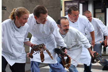 Dingle Chefs with Lobsters