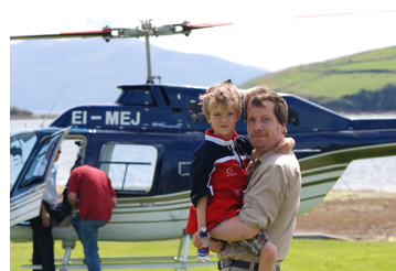 Conor and Sean with Helicopter