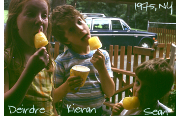 Kids with ice pops