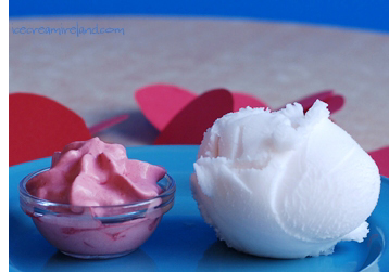Champagne Sorbet with Raspberry cream