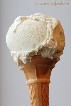 Vanilla Cone Melting