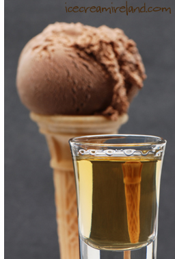 Whiskey with ice cream