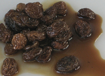 Raisins soaked in rum