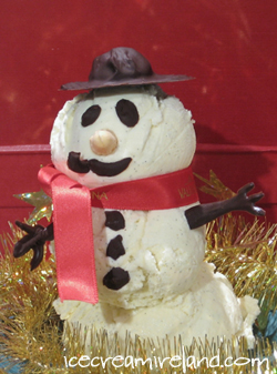Ice Cream Snowman Red