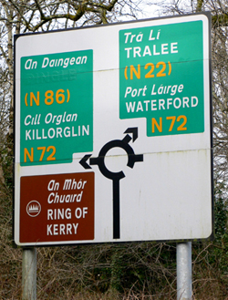An Daingean/Dingle Sign Killarney