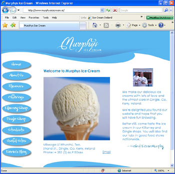 Murphys Ice Cream Website