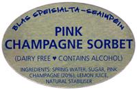 Pink Champagne Sorbet Label