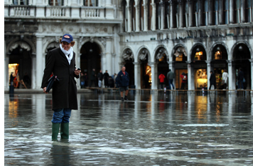 Man in Wellies, St. Marks Square